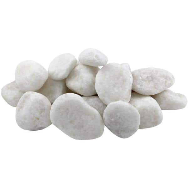 30 Lb Um Snow White Pebbles, White Garden Rocks Home Depot