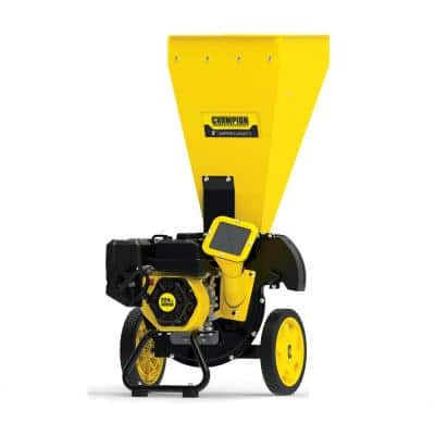3 in. Dia 224 cc 2-in-1 Upright Gas Powered Wood Chipper Shredder