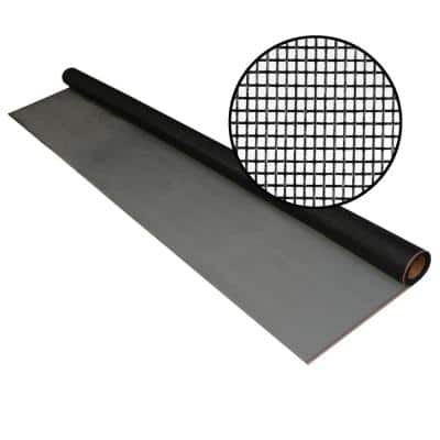 60 in. x 25 ft. Charcoal Fiberglass Pool and Patio 18 x 14 Mesh Screen Roll
