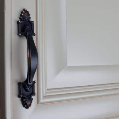 3-1/2 in. Center-to-Center Oil Rubbed Bronze Deco Cabinet Pull (10-Pack)