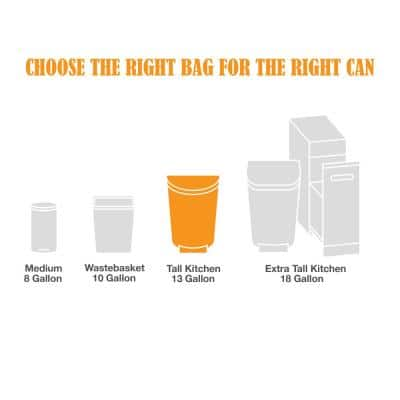 FlexPro 13 Gallon Fresh Scent Kitchen Trash Bag (140-Count)