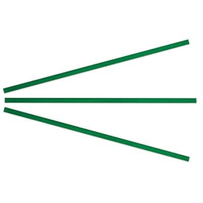 Green 3/8 in. x 15 in. Glass Pencil Tile Trim (3-Pack)