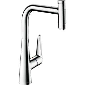 Talis Select S Single-Handle Pull-Down Sprayer Kitchen Faucet in Chrome