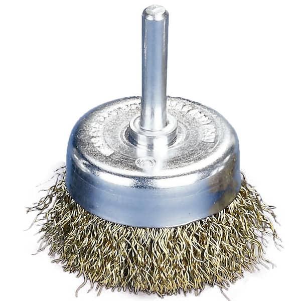 5 Pc Circular Brass-Coated Wire Wheel Brush Drill Attachment Deburr Rust Removal