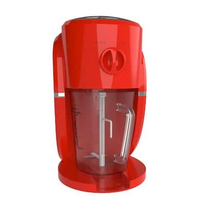32 oz. Red Frozen Drink Machine - Fine or Course Ice Shaver for Snow Cones, Daquiris or Slushies