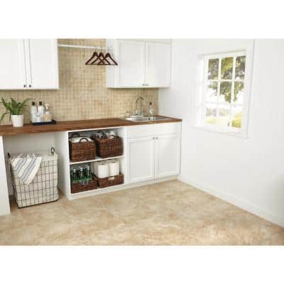 Portland Stone Beige 12 in. x 12 in. x 6.35 mm Ceramic Mosaic Floor and Wall Tile (1 sq. ft./Each)