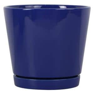 8 in. Blue Knack Ceramic Planter