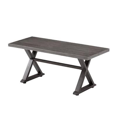 Grayson Ash Gray Metal Outdoor Bench