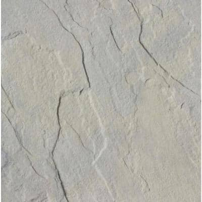 Patio-on-a-Pallet 18 in. x 18 in. Concrete Gray Variegated Traditional Yorkstone Paver (Pallet of 32-Pieces)