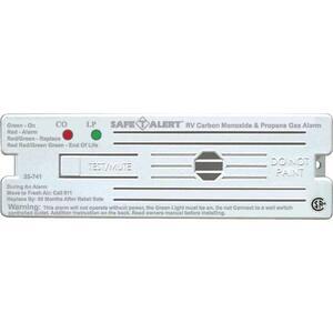 35 Series 12-Volt Safe-T-Alert Surface Mount RV Dual Carbon Monoxide/Propane Alarm in White