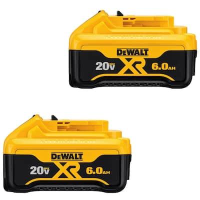 20-Volt MAX XR Premium Lithium-Ion 6.0Ah Battery Pack (2-Pack)