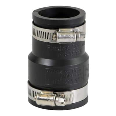 1-1/2 in. x 1-1/4 in. PVC Flexible Reducing Coupling with Stainless Steel Clamps