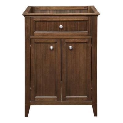 Jordan 24.5 in. W x 21.75 in. D x 35.25 in. H Vanity Cabinet Only in Mahogany
