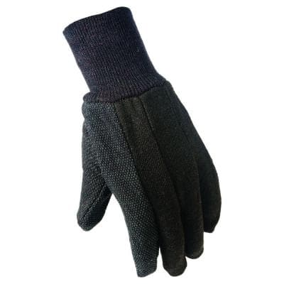 Large Brown Cotton Jersey with Mini Dots Gloves