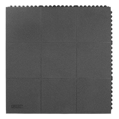 Cushion-Ease Solid 3 ft. x 3 ft. SBR Rubber Anti-Fatigue / Safety Mat