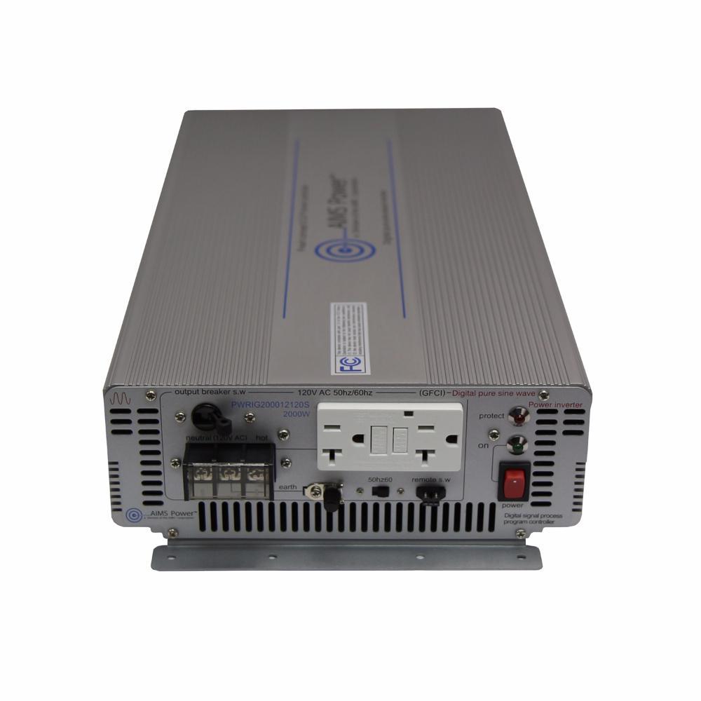 2,000-Watt Pure Sine Industrial Grade Inverter 12-Volt DC to 120-Volt AC