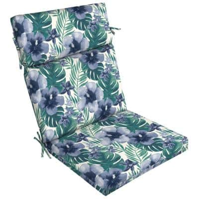 21 in. x 24 in. Dining Chair Cushion in Salome Tropical