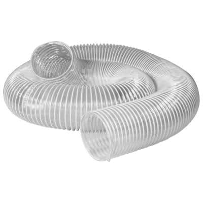 4 in. x 10 ft. Flexible PVC Dust Collection Hose, Clear Color