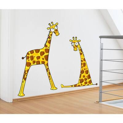 "(47 in x 37 in) Multi-Color ""Giraffe Baby Boys"" Kids Wall Decal"