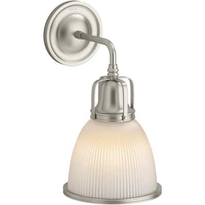 Hauksbee 1-Light 7.375 in. W Brushed Nickel Sconce