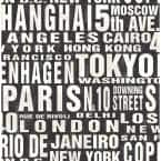 Around The World Black And White Abstract Vinyl Peel & Stick Wallpaper Roll (Covers 30.75 Sq. Ft.)
