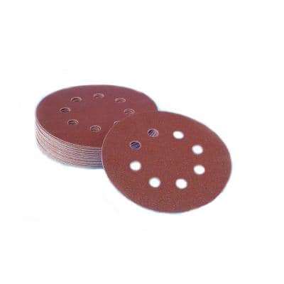5 in. 8-Hole 60-Grit Premium Heavy F-Weight Aluminum Oxide Hook and Loop Sanding Discs (50 per Box)