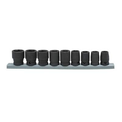 3/8 in. Drive Standard Metric Impact Socket Set (9-Piece)