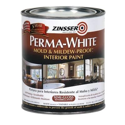 Perma-White 1 qt. Mold & Mildew-Proof Semi-Gloss Interior Paint (6-Pack)