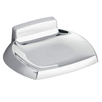 Contemporary Wall Mounted Soap Holder in Chrome