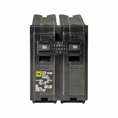 Homeline 30 Amp 2-Pole Circuit Breaker (3-Pack)