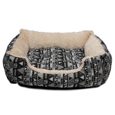 Otto Large Black Square Pet Bed