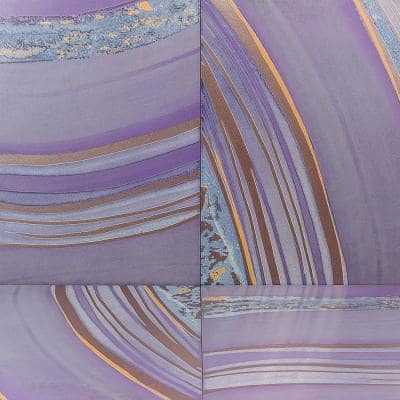 Mica Purple 23.5 in. x 23.5 in. Glazed Porcelain Floor and Wall Tile (7.75 sq. ft. / Case)