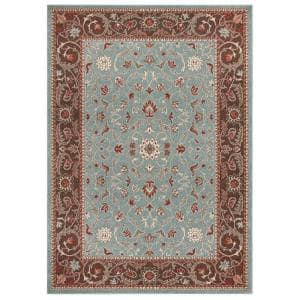 Chester Flora Blue 7 ft. x 9 ft. Area Rug
