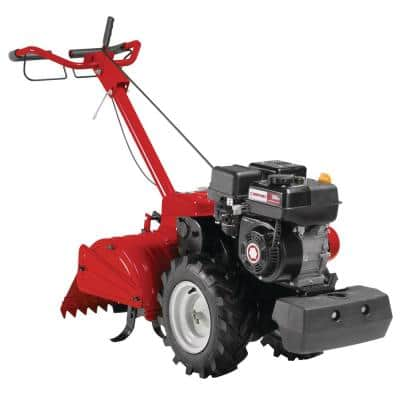 Mustang 18 in. 208 cc Gas OHV Engine Rear Tine Garden Tiller with Forward and Counter Rotating Tilling Options