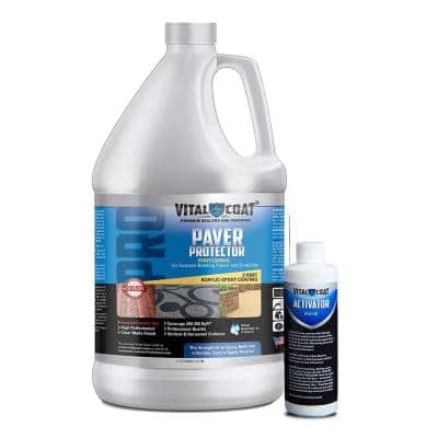 Paver Protector Pro 1 Gal. Sealant Water Base Acrylic in Clear