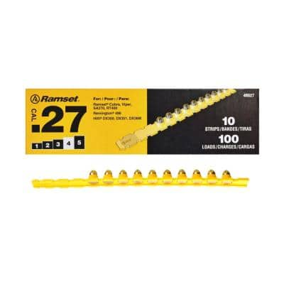 0.27 Caliber Yellow Strip Loads (100-Count)