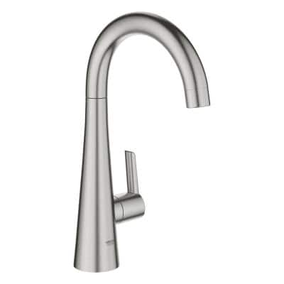 Ladylux L2 Single-Handle Beverage Faucet (Cold Water Only) with Filter Function in SuperSteel Infinity Finish