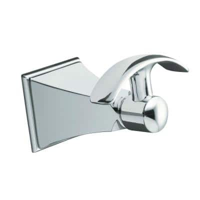 Memoirs Single Robe Hook with Stately Design in Polished Chrome