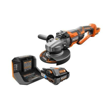 18-Volt OCTANE Cordless Brushless 7 in. Dual Angle Grinder Kit with (1) OCTANE Bluetooth 3.0 Ah Battery and Charger