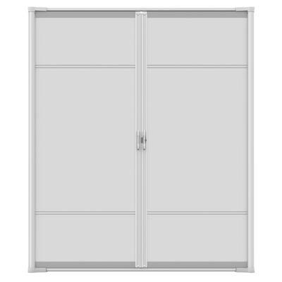 72 in. x 97 in. Brisa White Tall Double Retractable Screen Door Kit