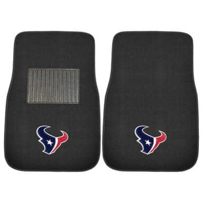 NFL Houston Texans 2-Piece 17 in. x 25.5 in. Carpet Embroidered Car Mat