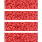 Boxwood 8.5 in. x 30 in. Stair Treads (Set of 4) Solid Red