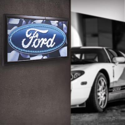 Ford Logo Framed Flashing LED Sign