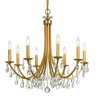 Bridgehampton 8-Light Antique Gold Crystal Chandelier