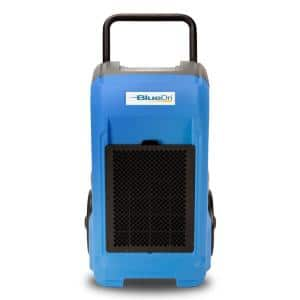 150-Pint Commercial Dehumidifier in Blue for Water Damage Restoration Mold Remediation