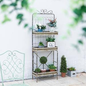 68''H 3-Tier Farmhouse Metal Shelf Shelving Unit (11.5 in. W x 68 in. H x 24 in. D)