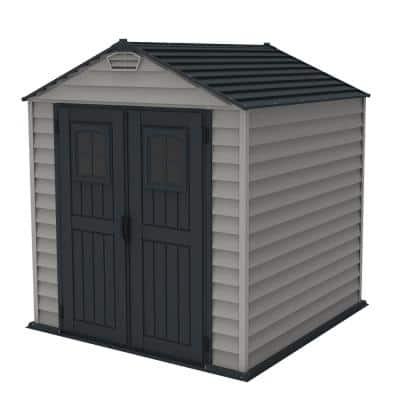 StoreMax Plus 7 ft. x 7 ft. Vinyl Storage Shed with Floor
