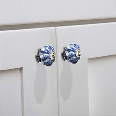 Blue Ceramic Cabinet Knobs, Blue Kitchen Cabinet Knobs