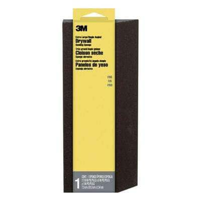 2-7/8 in. x 8 in. x 1 in. Fine Grit Extra Large Angled Drywall Sanding Sponge