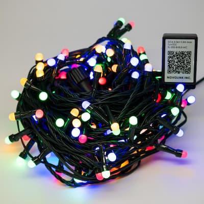 200 Light 8 mm Mini Globe Multi Color LED Lights with Wireless Smart Control